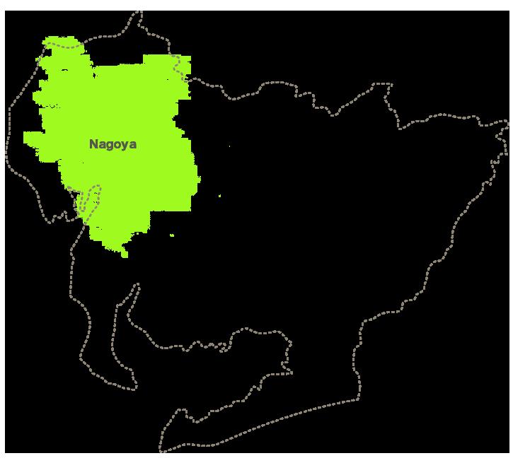 リノキューブ施工エリアマップ